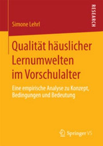 eBook Qualität häuslicher Lernumwelten im Vorschulalter Cover