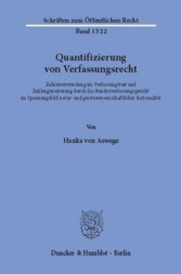 eBook Quantifizierung von Verfassungsrecht. Cover