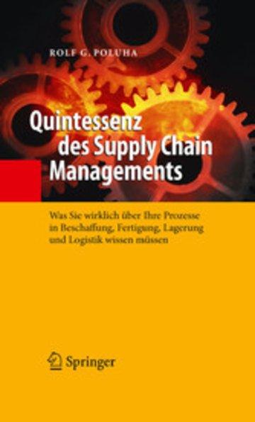 eBook Quintessenz des Supply Chain Managements Cover