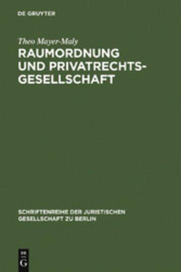 eBook Raumordnung und Privatrechtsgesellschaft Cover