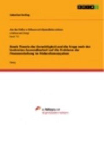 eBook Rawls Theorie der Gerechtigkeit und die Frage nach der konkreten Anwendbarkeit auf die Probleme der Finanzverteilung im Föderalismussystem Cover
