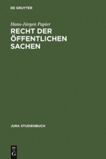 eBook Recht der öffentlichen Sachen Cover