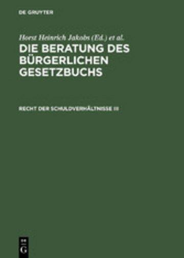 eBook Recht der Schuldverhältnisse III Cover
