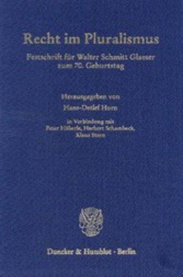 eBook Recht im Pluralismus. Cover