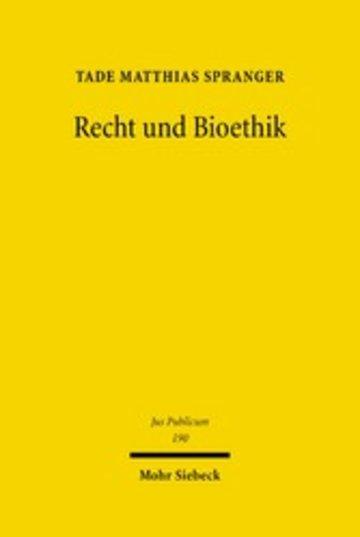 eBook Recht und Bioethik Cover
