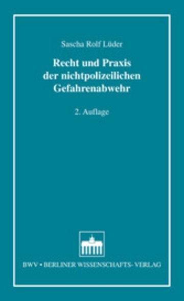 eBook Recht und Praxis der nichtpolizeilichen Gefahrenabwehr Cover