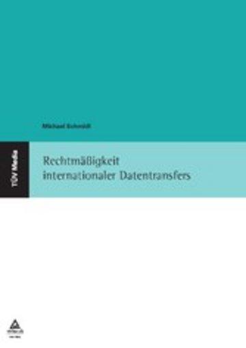 eBook Rechtmäßigkeit internationaler Datentransfers Cover