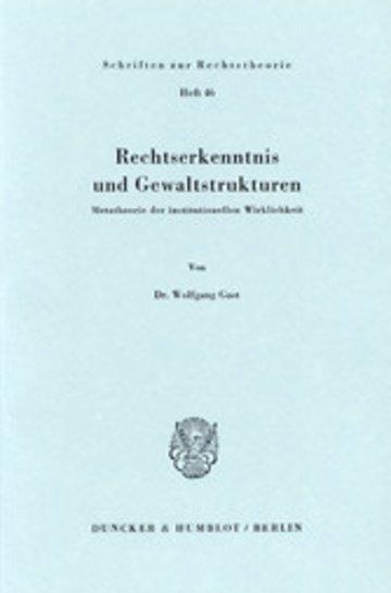 eBook Rechtserkenntnis und Gewaltstrukturen. Cover
