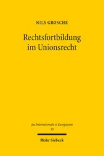 eBook Rechtsfortbildung im Unionsrecht Cover