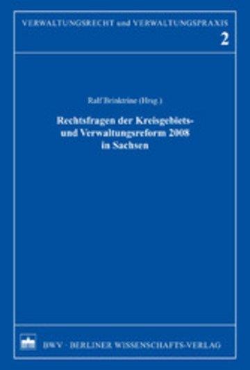 eBook Rechtsfragen der Kreisgebiets- und Verwaltungsreform 2008 in Sachsen Cover