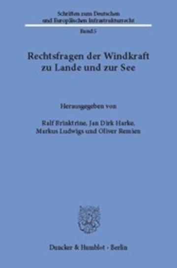 eBook Rechtsfragen der Windkraft zu Lande und zur See. Cover