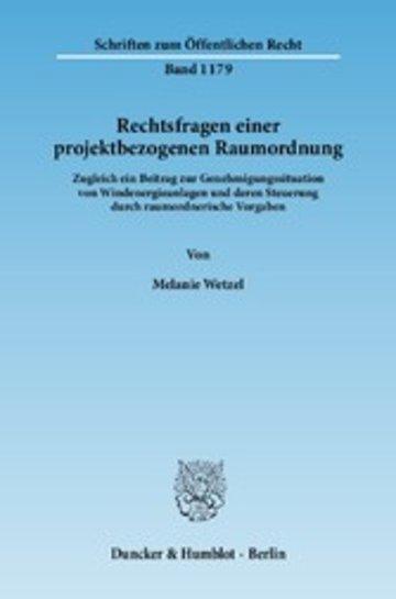 eBook Rechtsfragen einer projektbezogenen Raumordnung. Cover