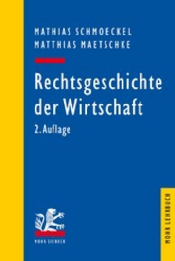 eBook Rechtsgeschichte der Wirtschaft Cover