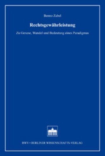 eBook Rechtsgewährleistung Cover