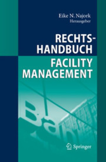 eBook Rechtshandbuch Facility Management Cover