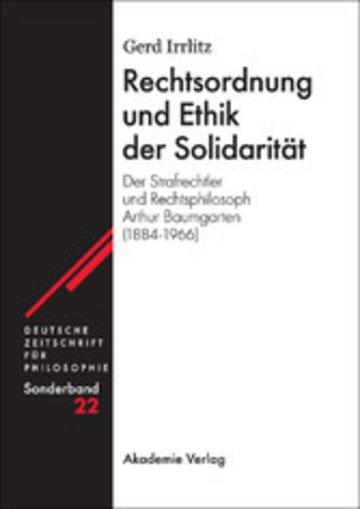 eBook Rechtsordnung und Ethik der Solidarität Cover