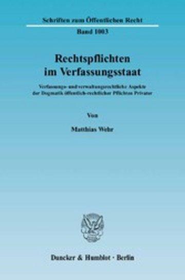 eBook Rechtspflichten im Verfassungsstaat. Cover