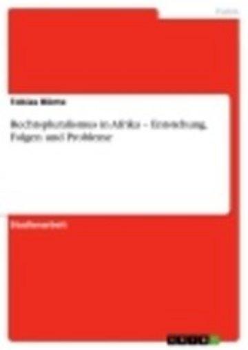 eBook Rechtspluralismus in Afrika - Entstehung, Folgen und Probleme Cover