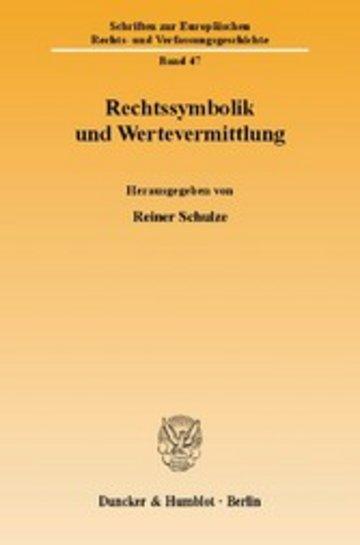 eBook Rechtssymbolik und Wertevermittlung. Cover