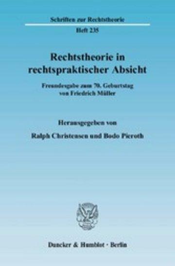 eBook Rechtstheorie in rechtspraktischer Absicht. Cover