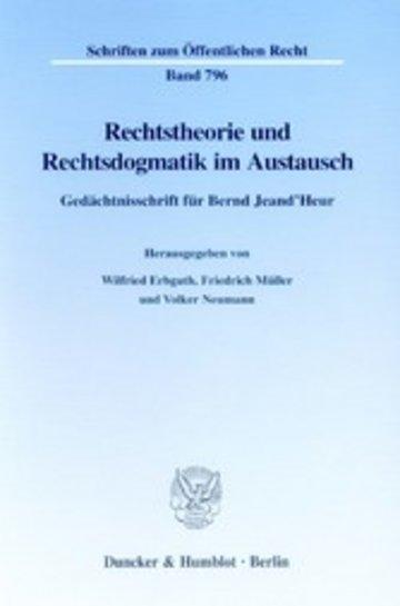 eBook Rechtstheorie und Rechtsdogmatik im Austausch. Cover