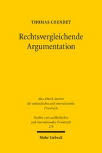 eBook Rechtsvergleichende Argumentation Cover