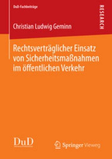 eBook Rechtsverträglicher Einsatz von Sicherheitsmaßnahmen im öffentlichen Verkehr Cover