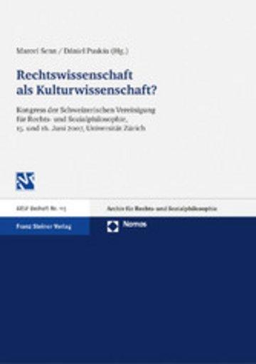 eBook Rechtswissenschaft als Kulturwissenschaft Cover