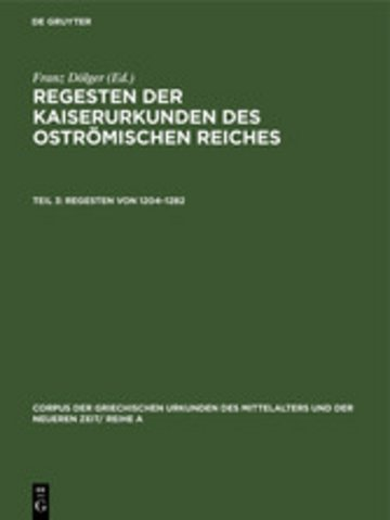 eBook Regesten von 1204-1282 Cover