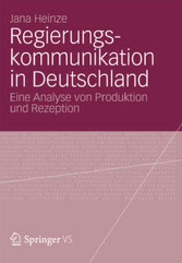 eBook Regierungskommunikation in Deutschland Cover
