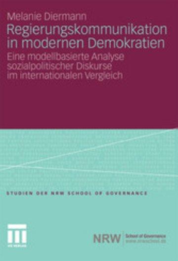 eBook Regierungskommunikation in modernen Demokratien Cover