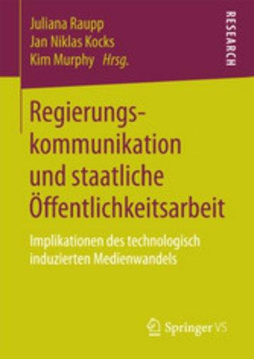 eBook Regierungskommunikation und staatliche Öffentlichkeitsarbeit Cover