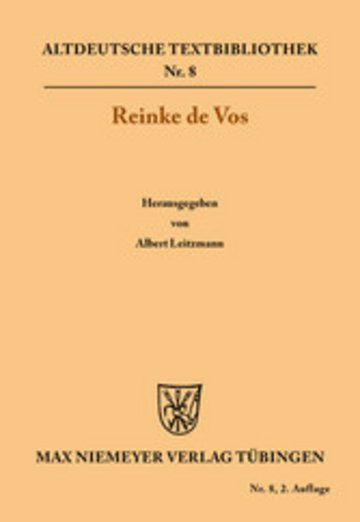 eBook Reinke de Vos Cover