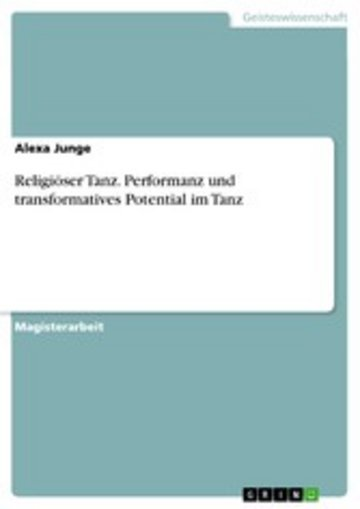 eBook Religiöser Tanz. Performanz und transformatives Potential im Tanz Cover