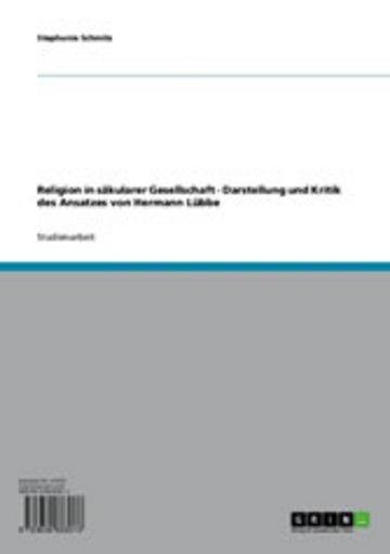 eBook Religion in säkularer Gesellschaft Cover