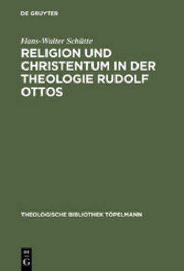eBook Religion und Christentum in der Theologie Rudolf Ottos Cover
