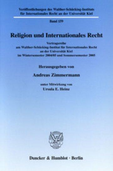 eBook Religion und Internationales Recht. Cover