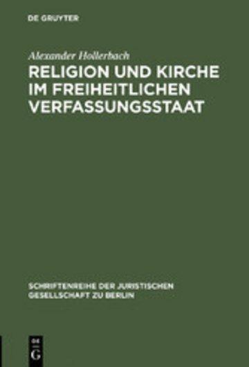 eBook Religion und Kirche im freiheitlichen Verfassungsstaat Cover