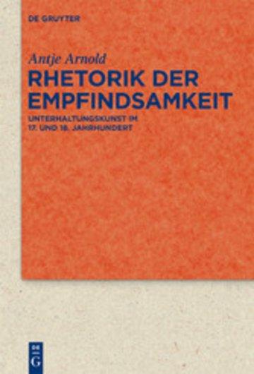 eBook Rhetorik der Empfindsamkeit Cover