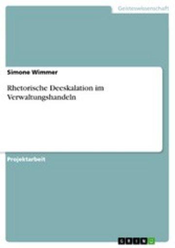 eBook Rhetorische Deeskalation im Verwaltungshandeln Cover