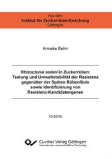 eBook Rhizoctonia solani in Zuckerrüben Cover