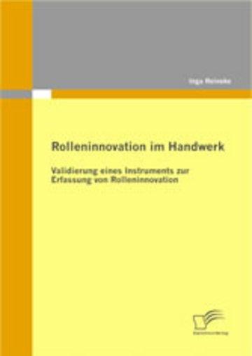 eBook Rolleninnovation im Handwerk Cover