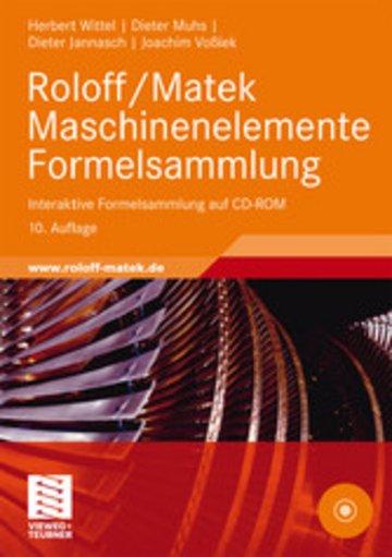 eBook Roloff/Matek Maschinenelemente Formelsammlung Cover