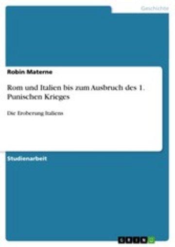 eBook Rom und Italien bis zum Ausbruch des 1. Punischen Krieges Cover