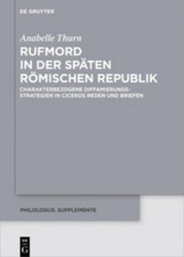 eBook Rufmord in der späten römischen Republik Cover