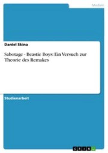 eBook Sabotage - Beastie Boys: Ein Versuch zur Theorie des Remakes Cover