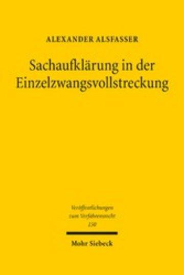 eBook Sachaufklärung in der Einzelzwangsvollstreckung Cover