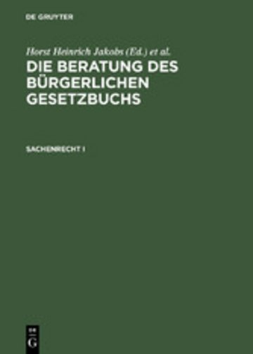 eBook Sachenrecht I Cover