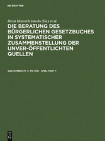 eBook Sachenrecht II: §§ 1018 - 1296 Cover