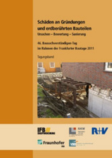 eBook Schäden an Gründungen und erdberührten Bauteilen. Ursachen - Bewertung - Sanierung. Cover